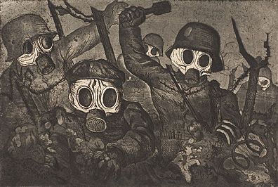 Stormtroopers Advancing Under Gas, Otto Dix, 1924