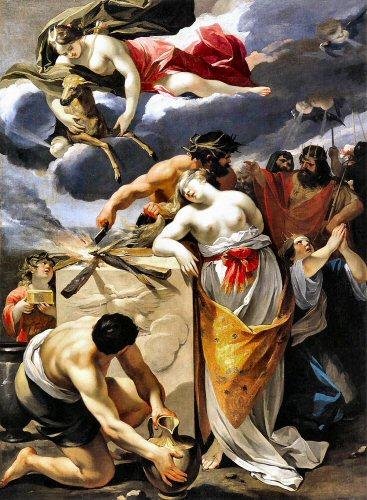 Le sacrifice d'Iphigénie, by François Perrier, 1633.