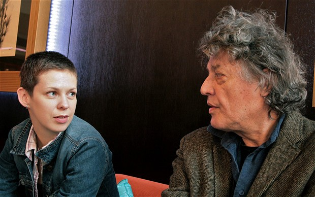 Natalia Koliada with Sir Tom Stoppard.