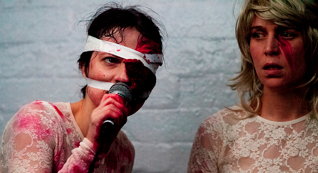 the rabble's production of Cain and Abel at Belvoir St Theatre. the rabble are one of Australia's leading avant-garde theatre groups.