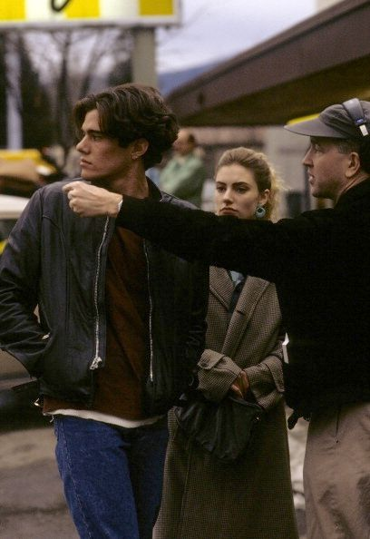 Lynch directs Dana Ashbrook and Madchen Amick in the Twin Peaks pilot
